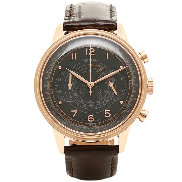 ゾンネ 時計 SONNE HI001PG HAORI ハオリ 腕時計 ウォッチ ブラック/ピンクゴールド