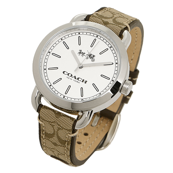 coach watch outlet wmwn  Coach watches outlet W6053 KHA COACH mini Lexington signature watches khaki