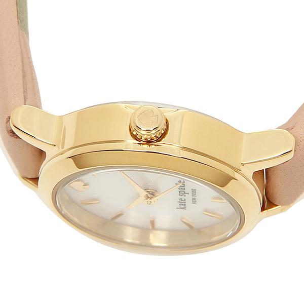 Kate spade clock Lady's KATE SPADE 1YRU0372 TINY METRO metro Thailand knee watch watch gold / beige