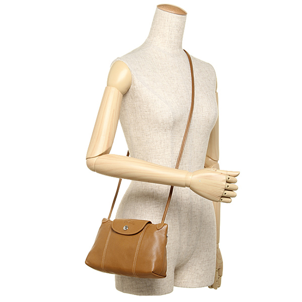 론샨 가방 LONGCHAMP 레이디스 1061 737 116 LE PLIAGE CUIR CROSS BODY BAG 숄더백 NATURAL