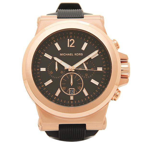 【28時間限定ポイント5倍】マイケルコース 腕時計 メンズ MICHAEL KORS MK8184 ブラック ピンクゴールド