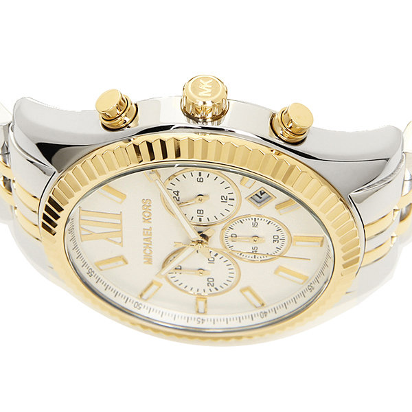 brand shop axes rakuten global market michael course watch men michael course watch men s michael michael kors mk8344 lexington lexington watch watch silver gold