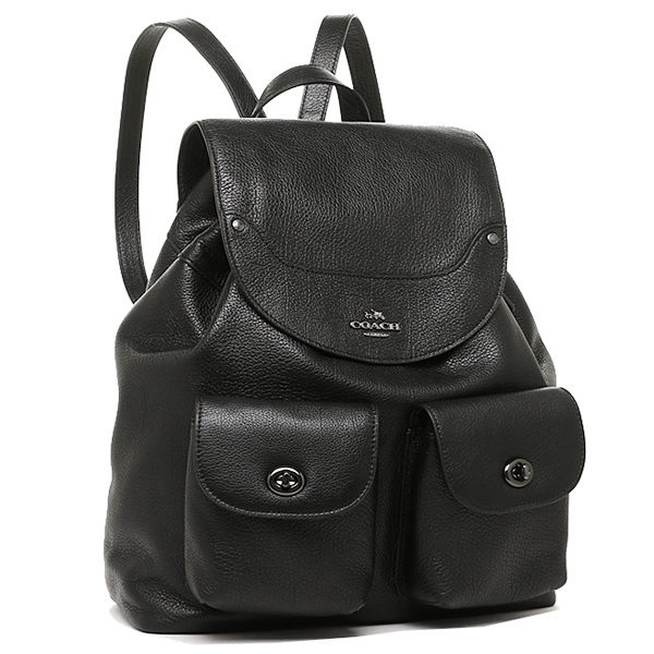 coach backpack purse outlet b19c  Coach bags outlet COACH F36683 QB/BK Mickey grain leather Backpack Rucksack  backpack black