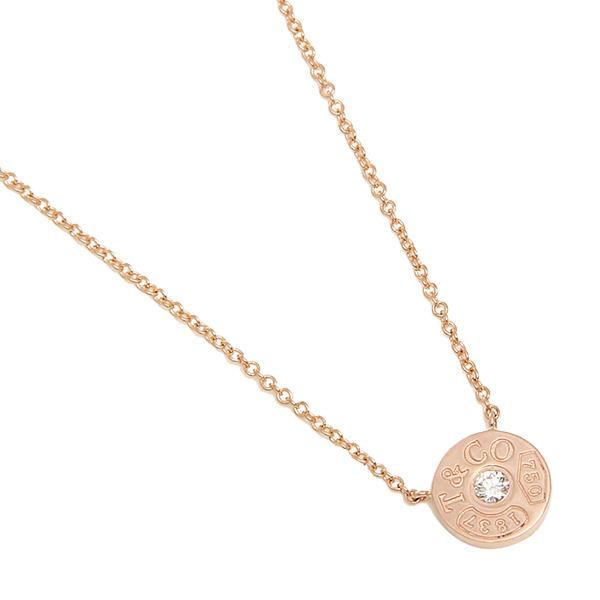 ティファニー ネックレス アクセサリー TIFFANY&Co. 33286007 1837 18K サークル ペンダント ダイアモンド16in 18R ペンダント ローズゴールド