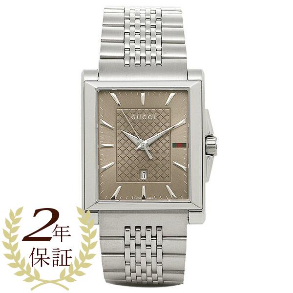 9ece002c208 Gucci clock men GUCCI YA138402 G- タイムレスレクタングル watch watch silver   brown
