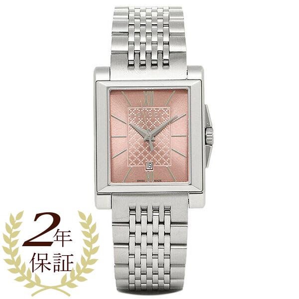 【4時間限定ポイント5倍】グッチ 時計 レディース GUCCI YA138502 G-タイムレス レクタングル 腕時計 ウォッチ シルバー/ピンク