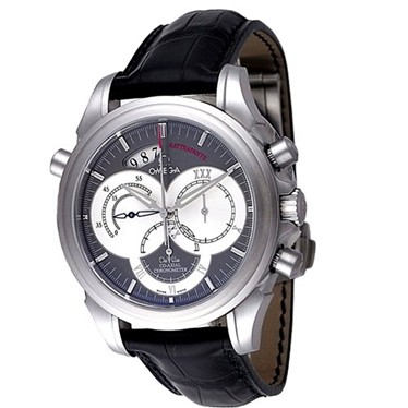 OMEGA オメガ デビル/デビル コーアクシャル ラトラパンテ 4848.40.31 メンズウォッチ 腕時計 グレー シリアル有