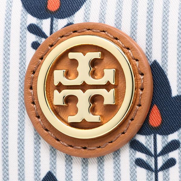 새-바치 파우치 TORY BURCH 레이디스 22159051 487 PRINTED NYLON BRIGITTE COSMETIC CASE 코스메틱 파우치 FOLK FLORA