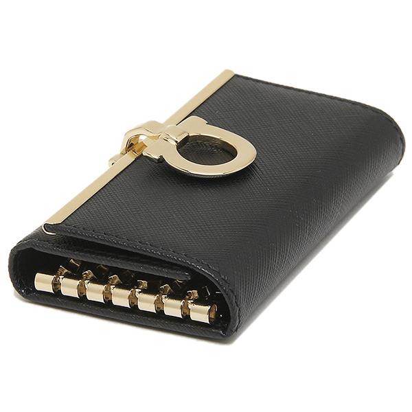 Salvatore Ferragamo key case Salvatore Ferragamo 224627 0614660 GANCIO ICONA NERO