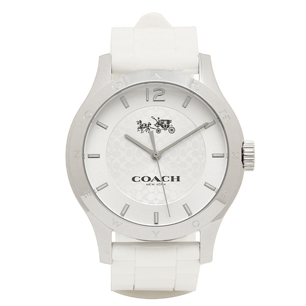 【4時間限定ポイント5倍】コーチ 腕時計 レディース アウトレット COACH W6033 WHT シルバー ホワイト