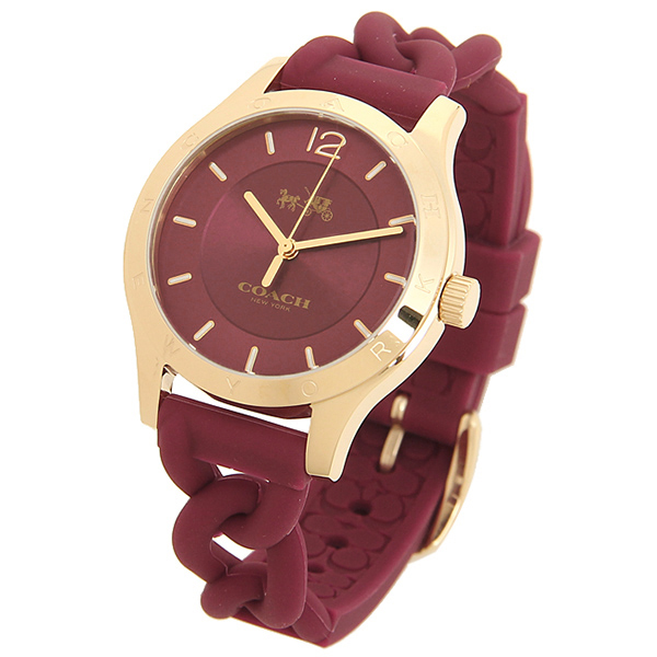 coach watch outlet 1em1  Coach watches outlet COACH W6043 BCY red gold