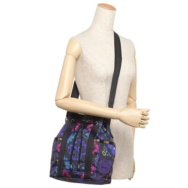 레스포트삭크밧그 LESPORTSAC 레이디스 8265 D705 BUCKET BAG 숄더백 MIDNIGHT FLOWER PATCH
