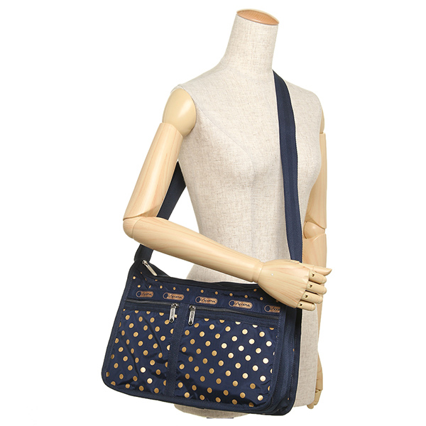 Reply Port Case Bag Lesportsac Lady S 7507 D821 Deluxe Everyday Shoulder Sun Multi Navy