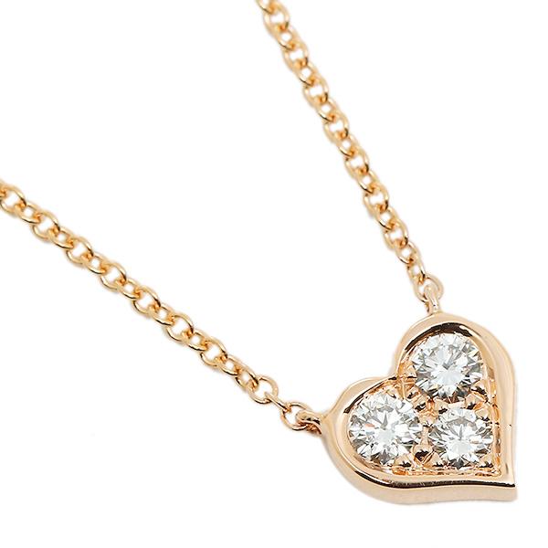 ティファニー ネックレス アクセサリー TIFFANY&Co. 28950136 18K センチメンタル ペンダント ダイヤモンド 16IN 18R ペンダント ピンクゴールド