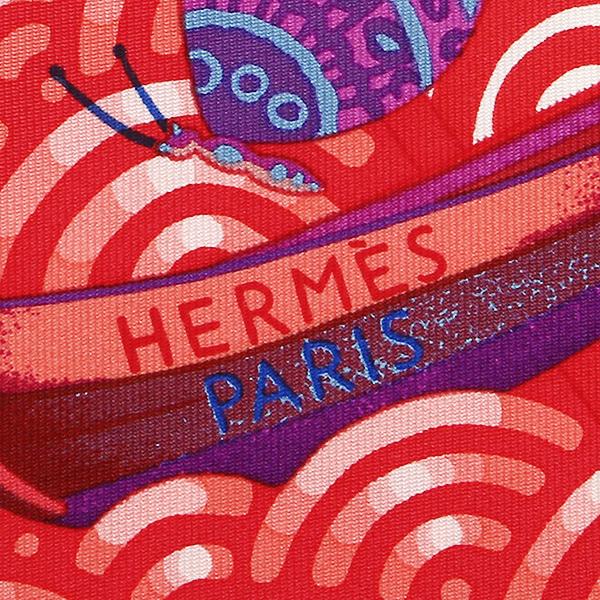 헤르메스 스카프 HERMES Carres 그 90 cm하나사키구범선 레이디스 루즈/뿌드르・블루