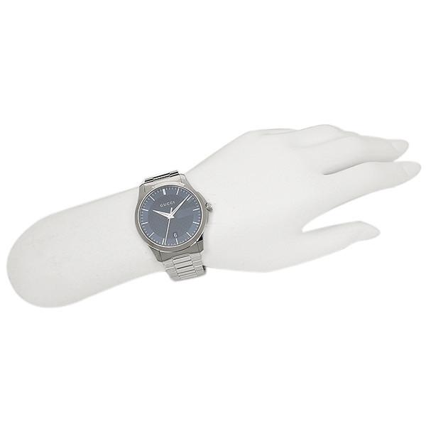 구찌 시계 맨즈/레이디스 GUCCI YA126440 G타임레스 손목시계 워치 블루/실버