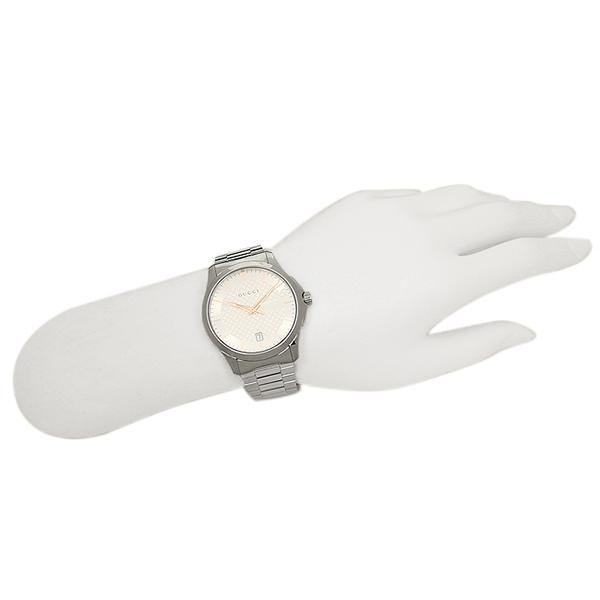 구찌 시계 맨즈/레이디스 GUCCI YA126442 G타임레스 손목시계 워치 실버