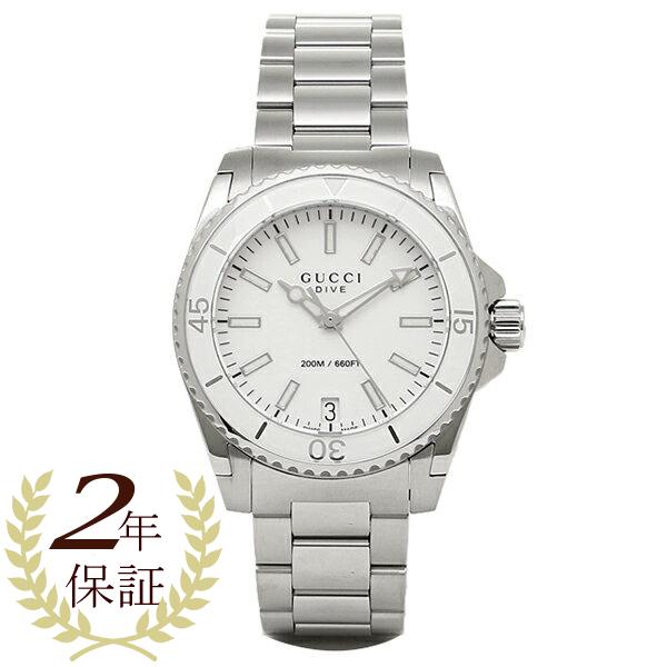 【2時間限定ポイント10倍】グッチ 時計 レディース GUCCI YA136402 DIVE 腕時計 ウォッチ ホワイト/シルバー
