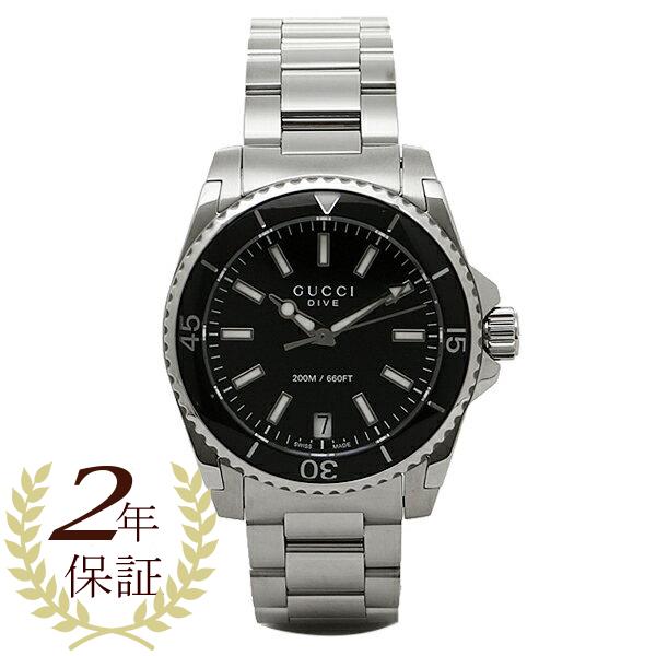 【4時間限定ポイント10倍】グッチ 時計 レディース GUCCI YA136403 DIVE 腕時計 ウォッチ ブラック/シルバー