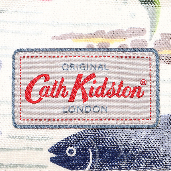 kyasukiddosombaggu CATH KIDSTON女士481649 LARGE OPEN CARRYALL RIVER FISH大手提包WHITE