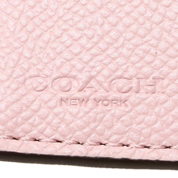 코치 2때지갑 COACH F53837 SVAKI 라이트카키/페탈 핑크