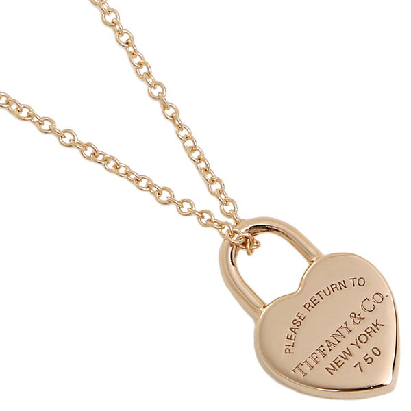 a994264f8a45 Tiffany necklace TIFFANY Co. 35540962 return toe Tiffany heart tag lock 18K  pendant Rose gold