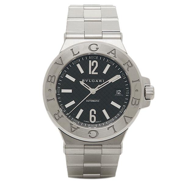 BVLGARI ブルガリ ディアゴノ クラシック オートマチック ブラック メンズ DG40BSSD ウォッチ 腕時計 シリアル有