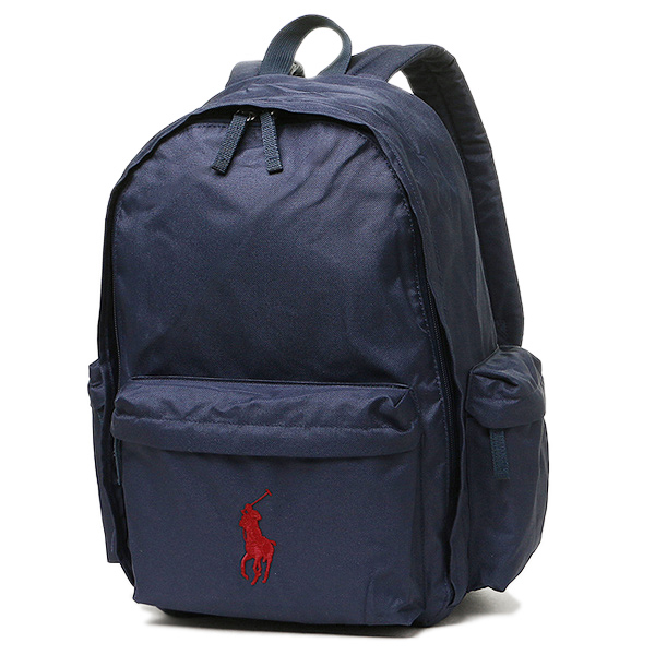 Polo Ralph Lauren bag POLO RALPH LAUREN 950224 CLASSIC PONY BACKPACK LARGE  rucksack backpack NEWPORT NAVY RED PP 8f76fdeaf9f33