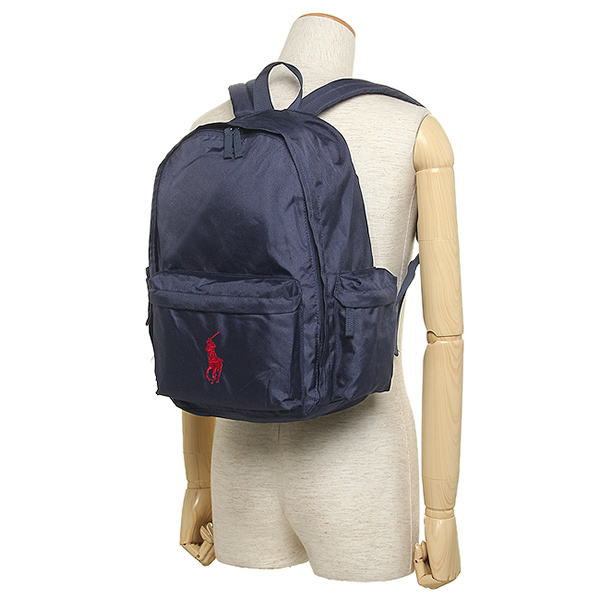 Polo Ralph Lauren bag POLO RALPH LAUREN 950224 CLASSIC PONY BACKPACK LARGE  rucksack backpack NEWPORT NAVY/RED PP
