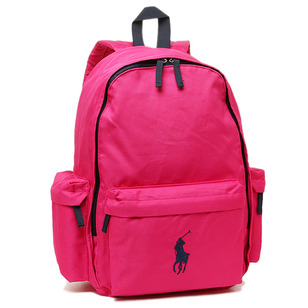 Polo Ralph Lauren bag POLO RALPH LAUREN 950225 CLASSIC PONY BACKPACK LARGE  rucksack backpack ULTRA PINK NAVY PP a12074bc39d75