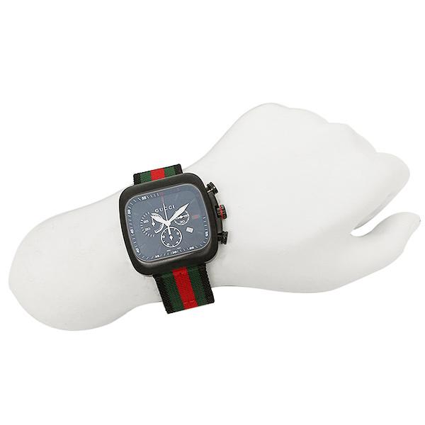 구찌 시계 맨즈 GUCCI YA131202 쿠페 크로노그래프 손목시계 워치 블랙 멀티