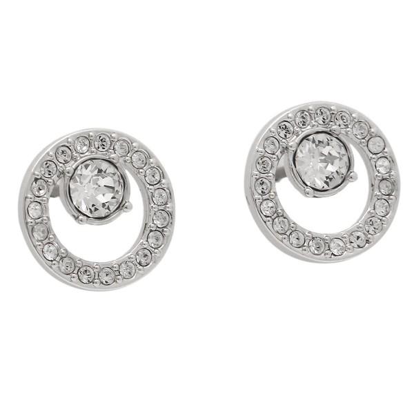 Swarovski pierced earrings SWAROVSKI 5201707 CREATIVITY CIRCLE SMALL Lady s  silver 4ce2e87aa4c