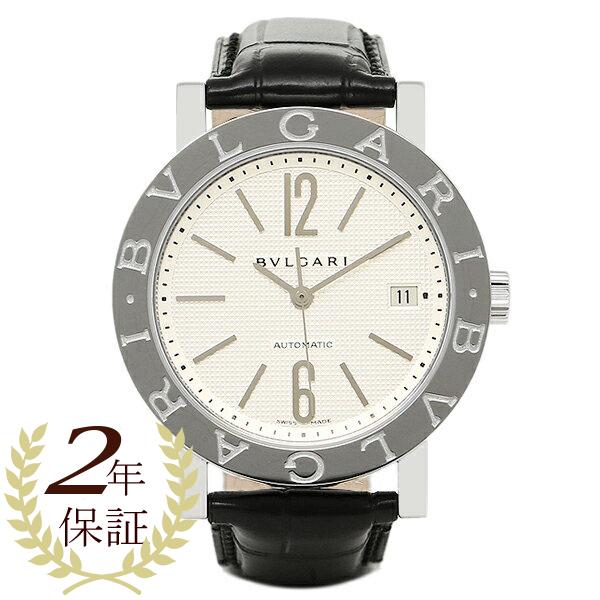 【6時間限定ポイント10倍】ブルガリ 時計 メンズ BVLGARI BB38WSLDAUTO ブルガリ ブルガリ オートマチック 腕時計 ウォッチ ホワイト/シルバー/ブラック