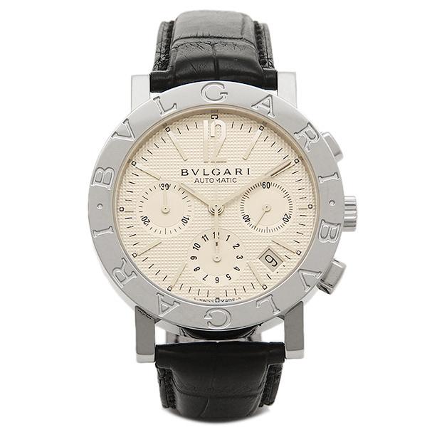 【6時間限定ポイント5倍】ブルガリ 時計 メンズ BVLGARI BB38WSLDCH ブルガリ ブルガリ クロノグラフ 腕時計 ウォッチ ホワイト/シルバー/ブラック