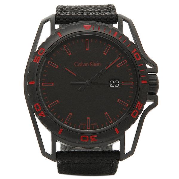 カルバンクライン 時計 メンズ CALVIN KLEIN K5Y31ZB1 EARTH アース 腕時計 ウォッチ ブラック/レッド