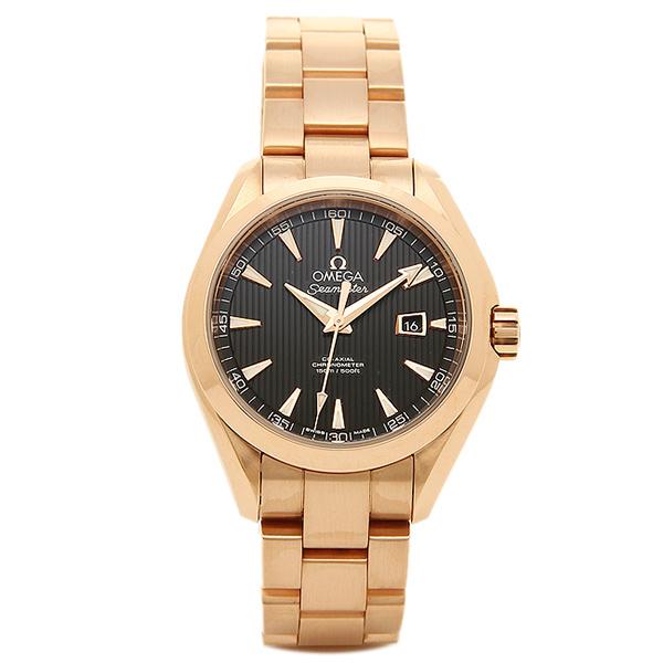 オメガ 時計 OMEGA 231.50.34.20.01.002 SEAMASTER シーマスターアクアテラ 自動巻き 腕時計 ウォッチ ローズゴールド/ブラック