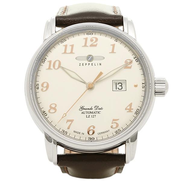 ツェッペリン 時計 メンズ ZEPPELIN 7652-4 グラーフ 自動巻き 腕時計 ウォッチ ブラウン/ホワイト/シルバー, サシマグン 935daa1d