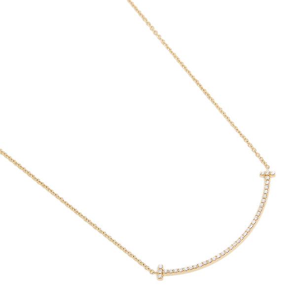 【24時間限定ポイント5倍】ティファニー ネックレス アクセサリー TIFFANY&Co. 34684456 ダイヤモンド T スマイル ミニ 18K ペンダント ゴールド