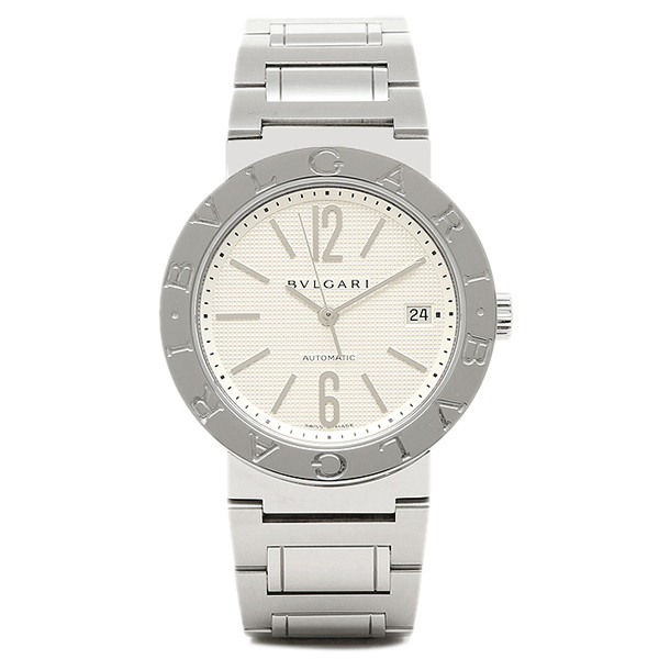 ブルガリ BVLGARI 時計 腕時計 メンズ BVLGARI ブルガリブルガリ SSブレス ホワイト メンズ AUTO BB38WSSD/N ウォッチ 腕時計 シリアル有