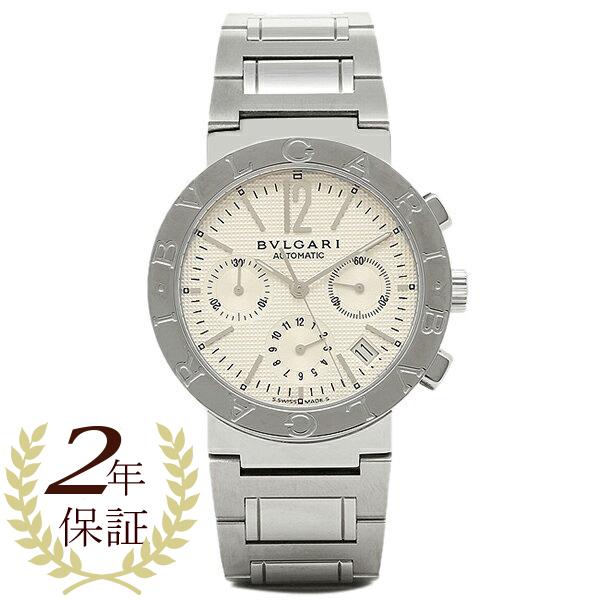 ブルガリ BVLGARI 時計 腕時計 メンズ BVLGARI ブルガリブルガリ オートマチック クロノグラフ ホワイト メンズ BB38WSSDCH ウォッチ 腕時計 シリアル有