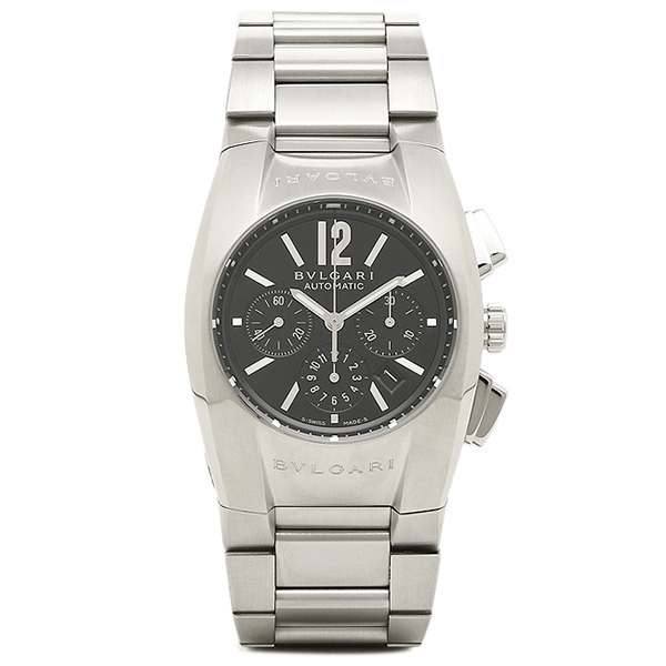 【6時間限定ポイント10倍】ブルガリ BVLGARI 時計 レディース 腕時計 BVLGARI ブルガリ エルゴン オートマチック クロノグラフ ブラック ボーイズ EG35BSSDCH ウォッチ 腕時計 シリアル有