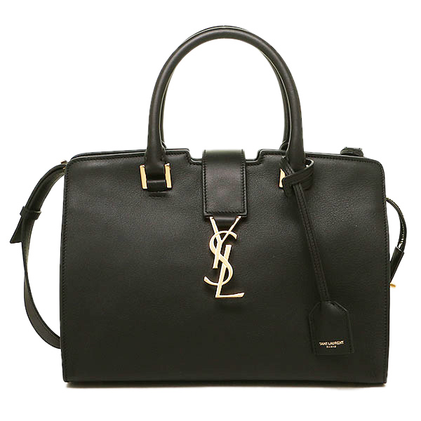 산로란파리밧그 SAINT LAURENT PARIS 424868 BJ50J 1000 CABAS MONOGRAMME 2 WAY 가방 NOIR