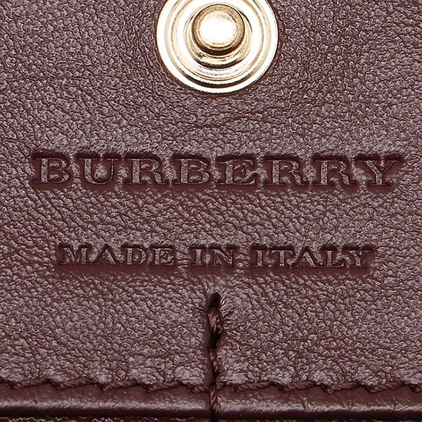 바바리 지갑 BURBERRY 3975330 60640 하우스 체크 HOUSE CHECK장 지갑 MAHOGANY RED