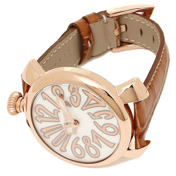 c4a83f5d8e ガガミラノ腕時計メンズ/レディースGAGAMILANO5021.2BRWMANUALE40MMクォーツ腕時計ウォッチピンク/ゴールド
