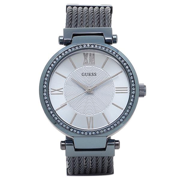 gesu钟表女士GUESS W0638L3小公司女士手表表蓝色/银子