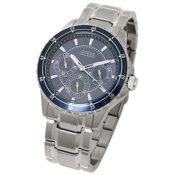 brand shop axes rakuten global market guess watch mens guess guess watch mens guess w0670g2 longitude mens watch watch blue silver