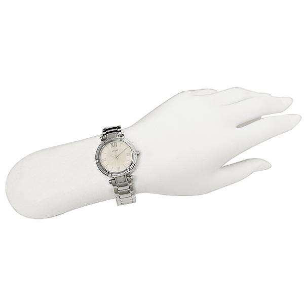 ab4f4e39927b ゲス clock Lady s GUESS W0767L1 PARK AVE SOUTH Lady s watch watch silver