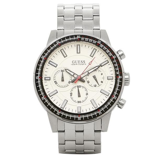 【返品OK】ゲス 腕時計 メンズ GUESS W0801G1 FUEL メンズ腕時計 ウォッチ シルバー