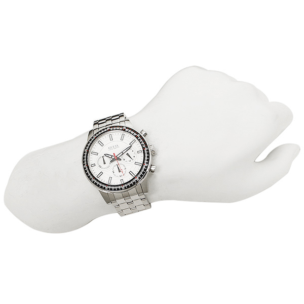 게스 시계 맨즈 GUESS W0801G1 FUEL 맨즈 손목시계 워치 실버