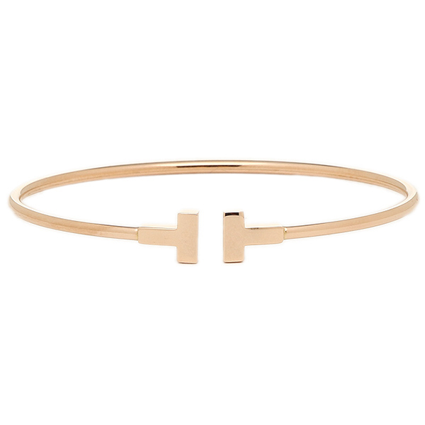 770b11b78 ... Tiffany bracelet TIFFANY&Co. 33419643 18K T narrow wire Small bracelet  bangle Rose gold